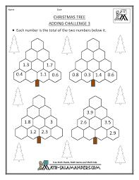 christmas maths activities adding decimals education brilliance