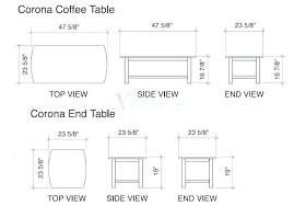Coffee Table Height Standard Table Sizes Coffee Table Standard Conference Room Height