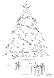 christmas tree gift boxes coloring free printable