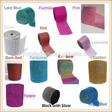 mesh ribbon wholesale silver diamond mesh wrap roll rhinestone ribbon view high