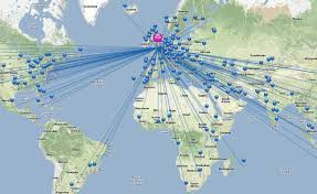 Latam Map Interactive Content Map Of Global Air Travel By Amadeus