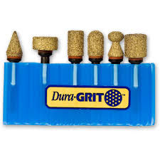Wood Carving Tool Set Uk by Dura Grit 6 Piece Woodcarving Set Burrs For Rotary Multitools