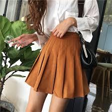 pleated skirts autumn women high waist mini skirt 2017 fashion