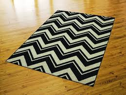 Black And White Zig Zag Rug Black And White Striped Rug