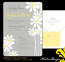 Gray And Yellow Color Schemes Nealon Design Springy Yellow Gray Wedding Shower
