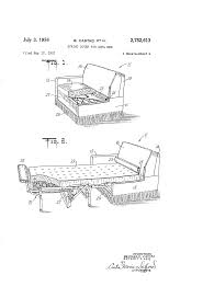 patent us2752613 spring cover for sofa bed google patents