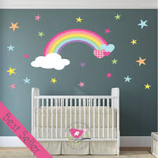 magical nursery rainbow wall sticker magical rainbow heart stars nursery wall sticker