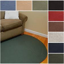 8 Round Braided Rugs by 100 Wool Braided Rug Chunky Braided Casellena Braided Grey