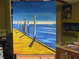 Painting Boat Interior Painting U201cboat Dock U201d Part 3 Art By Marie Scott