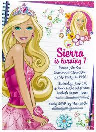 Barbie Invitation Card Pink Barbie Birthday Party Photos Haymarket Virginia Limefish