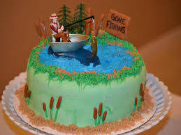 fish birthday cakes birthday cakes images cool fishing birthday cake for men fishing