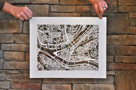 Etsy Maps Handcut Map Of Pittsburgh U003e I Heart Pgh