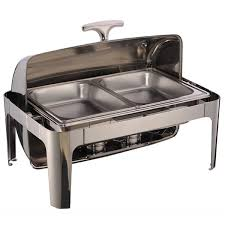 roll top chafing dish single panel