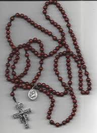15 decade rosary buy fifteen decade wooden bead and cord rosary with san damiano