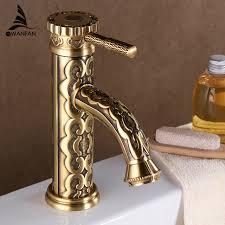 Antique Bathroom Faucets Fixtures Basin Faucets Solid Brass Vintage Antique Bathroom Faucet Single