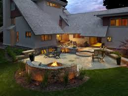 Patio Fire Pit Ideas Outdoor Patio Ideas With Fire Pit In Backyard Backyard Patio