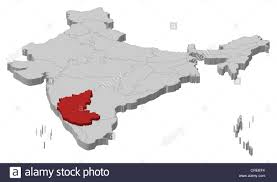 World Map Of India by Political Map Of India With The Several States Where Karnataka Is