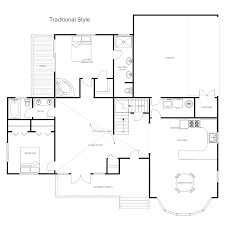 house plan traditional home