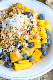 mango lychee and blueberry fruit bowl will cook for smiles