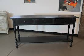sofa console table long black console table in reclaimed wood lake and mountain home