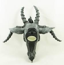 baphomet head satanic demon goat of mendes pagan occult wall