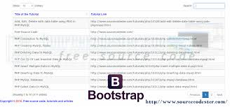 Bootstrap Data Table How To Use Datatables In Bootstrap Free Source Code Tutorials