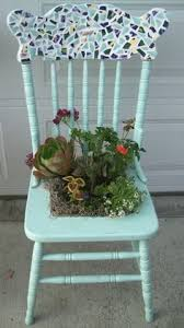 set a place in the garden for a succulent chair planter chair