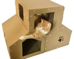Modern Cat Trees Furniture by Cat Tower Cardboard Cat House
