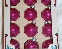 pink glass ornaments etsy