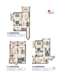 Floor Plans Queue Point Apartments Liwan Dubailand