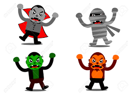 halloween monsters background free halloween monster clipart collection