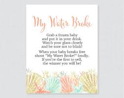 my water baby shower nautical baby shower my water sign printable