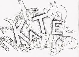 doodle name kate name tag by katebait on deviantart