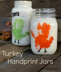 turkey handprint jars christinas adventures
