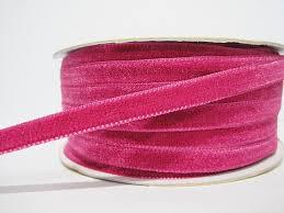pink velvet ribbon 5 yards 3 8 hot pink velvet ribbon pink velvet ribbon