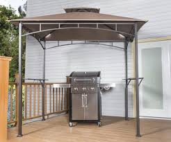 backyard creations grill gazebo with led lights at menards
