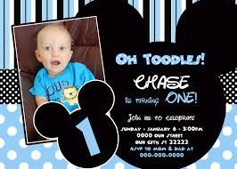 mickey mouse birthday invitations baby mickey mouse birthday invitations best party ideas