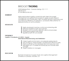 Sample Resume Of Project Coordinator by Absolutely Design Logistics Coordinator Resume 13 Click Here To