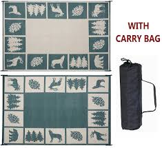 Outdoor Cing Rug Reversible Mats Outdoor Patio Rv Cing Mat Woods