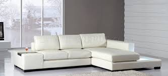 Mini Sectional Sofas T 35 Mini Sectional Sofa In White Leather