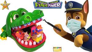 paw patrol pup bit crocodile dentist grossery gang