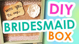 bridesmaid invitation diy bridesmaid invitation boxes wedding crafts gift