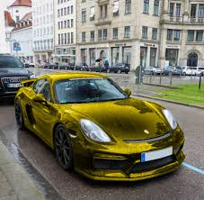 gold chrome bentley gold chrome porsche cayman gt4 madwhips
