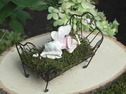 fairy bed fairy garden sleeping fairy bed figurine for miniature