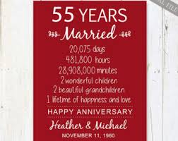 55th wedding anniversary 65th wedding anniversary gift for parents 65 years wedding