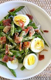asparagus egg and bacon salad with dijon vinaigrette u2013 hard boiled
