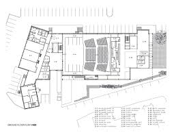 theater floor plan gallery of mont laurier multifunctional theater les architectes