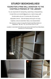 shelving for sale chatfield public library