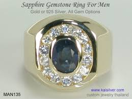 all sapphire rings images Men 39 s sapphire ring from kaisilver man135 gold or 925 silver jpg