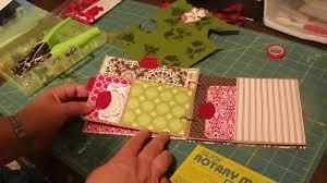 paper bag christmas mini album tutorial youtube